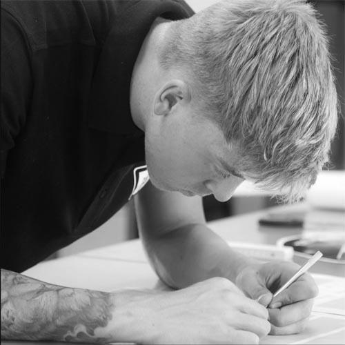 Sandro Dietrich Auszubildener im Team der Werbetechnik Ravensburg